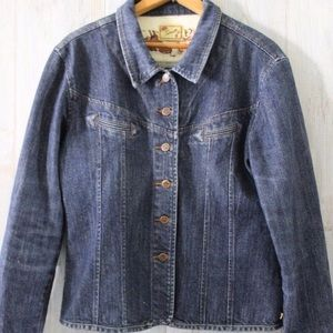 SCULLY Rose Button Denim Shirt Jacket M